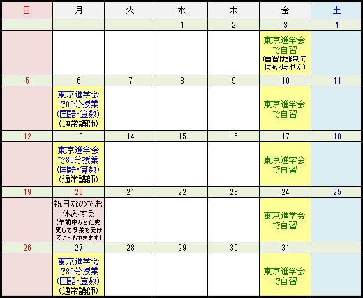 東京進学会の活用方法:ケース1